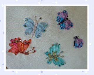 Run don't walk-- tutorials etc.  WONDERFULBeautiful Butterflies, Silk Ribbons Embroidery, Crazy Quilt, Silk Ribbon Embroidery, Ribbons Embroidery Tutorials, Birthday 2012, Nice Blog, Silkribbon, Ribbons Work