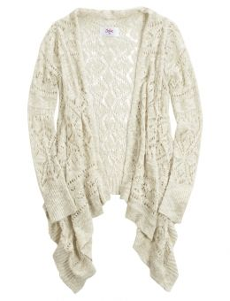 Shop Crochet Waterfall Cardigan and other trendy girls sweaters & cardigans clothes at Justice. Find the cutest girls clothes to make a statement today.