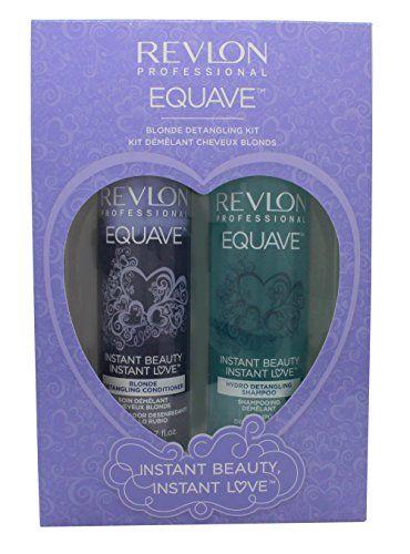 REVLON Rev Pack Duo Equave Blonde Shampoing 250 ml/Après-Shampoing 200 ml Price:     Equave Blonde Duo Pack Premier soin de beauté capillaire instantané Contient: - 1 Hydro detangling shampo...