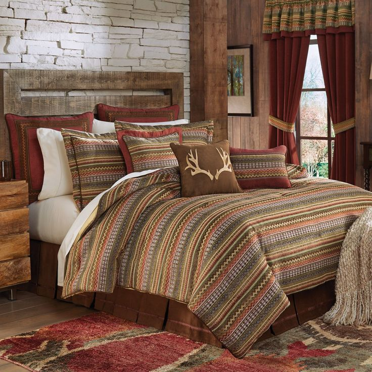 croscill horizon bedding collection will remind you of the warmth felt sitting by the fireplace on a cabin lodge retreat