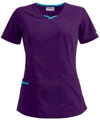 Blusa médica Butter-Soft de UA™ Criss Cross Contrast V-Neck