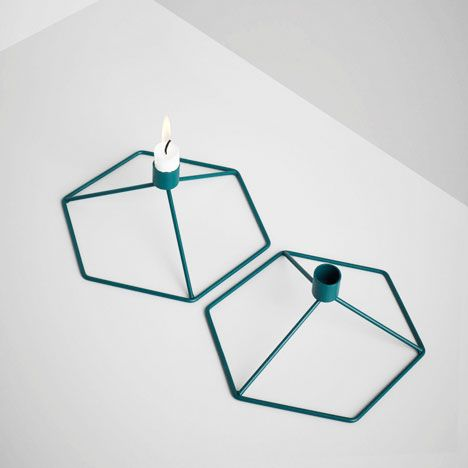 Via NordicDays.nl | Menu Point of View Candleholder | Geometric