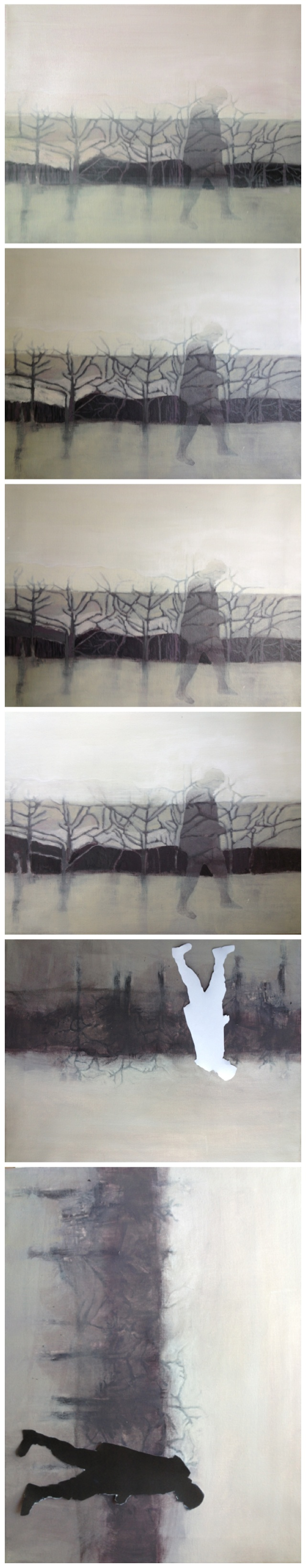 """""""I walk slowly, but never work backwards"""" a painting in progress."""