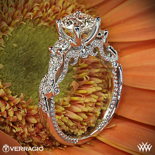 Verragio Braided 3 Stone Engagement Ring. OMG