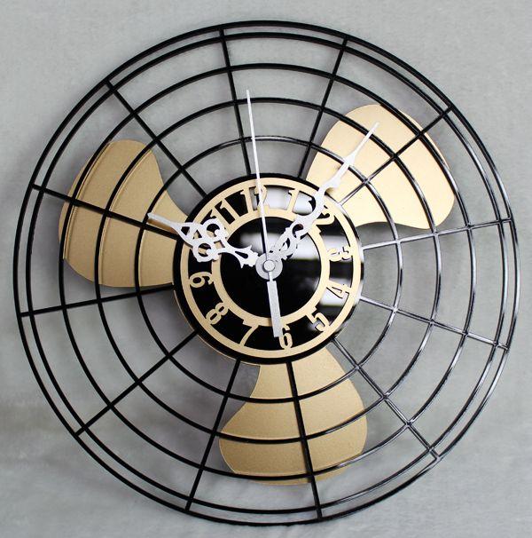 antique ventilateur électrique horloge murale ventilateur vintage mode horloge murale horloge murale horloge style chinois mute