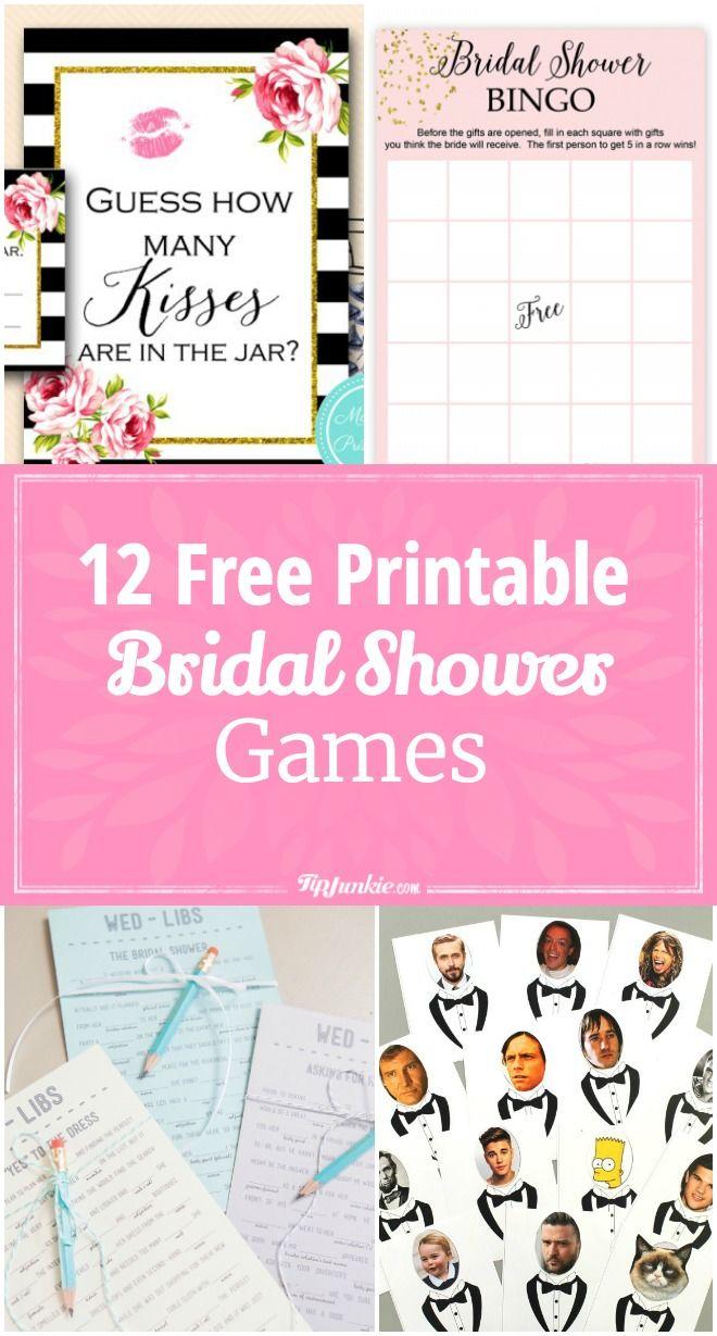 12 free printable bridal shower games via tipjunkie
