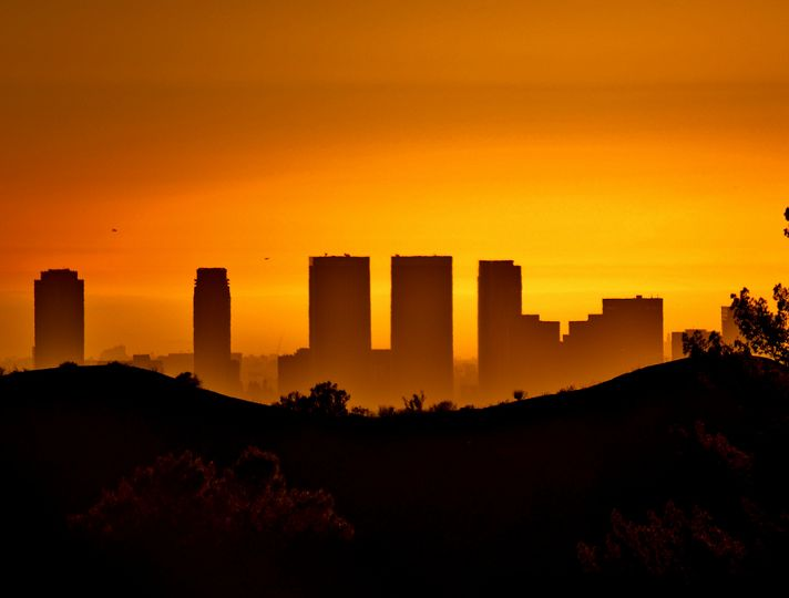Sunset View Of Century City From Griffith Park Sunset City