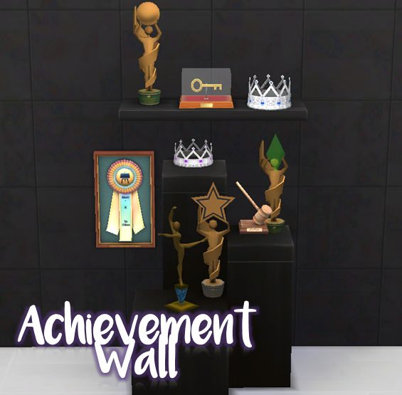 Show others what your sims have accomplished! This is a set of award conversions from The Sims 3 for The Sims 4 and includes nine items: Ballet Trophy Gavel Award Green Orb Award Homecoming King Crown Homecoming Queen Crown Key to the City Reward...