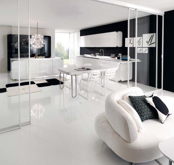Kitchen : Creative Black And White Kitchen Designs With Nice Cozy Sofa Black  And White Kitchen Design With Inspiring New Decoration Black And White  Kitchens Part 80