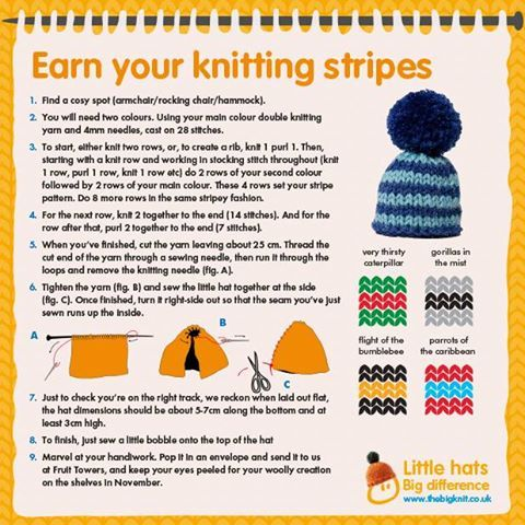 For this year's #BigKnit we need 1 million hats to raise £250,000 for Age UK. We'd love it if you could help us by knitting a hat or two. We'll be posting more pattern guides in the coming weeks.