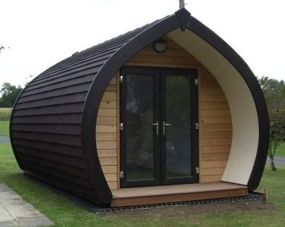 I would need this to be on wheels just to make it perfect!      UK Camping Pods for sale bespoke wooden camping pods - Camping Pods