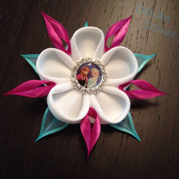 Elsa and Anna inspierd Hair Clip by DidiArtCorner on Etsy