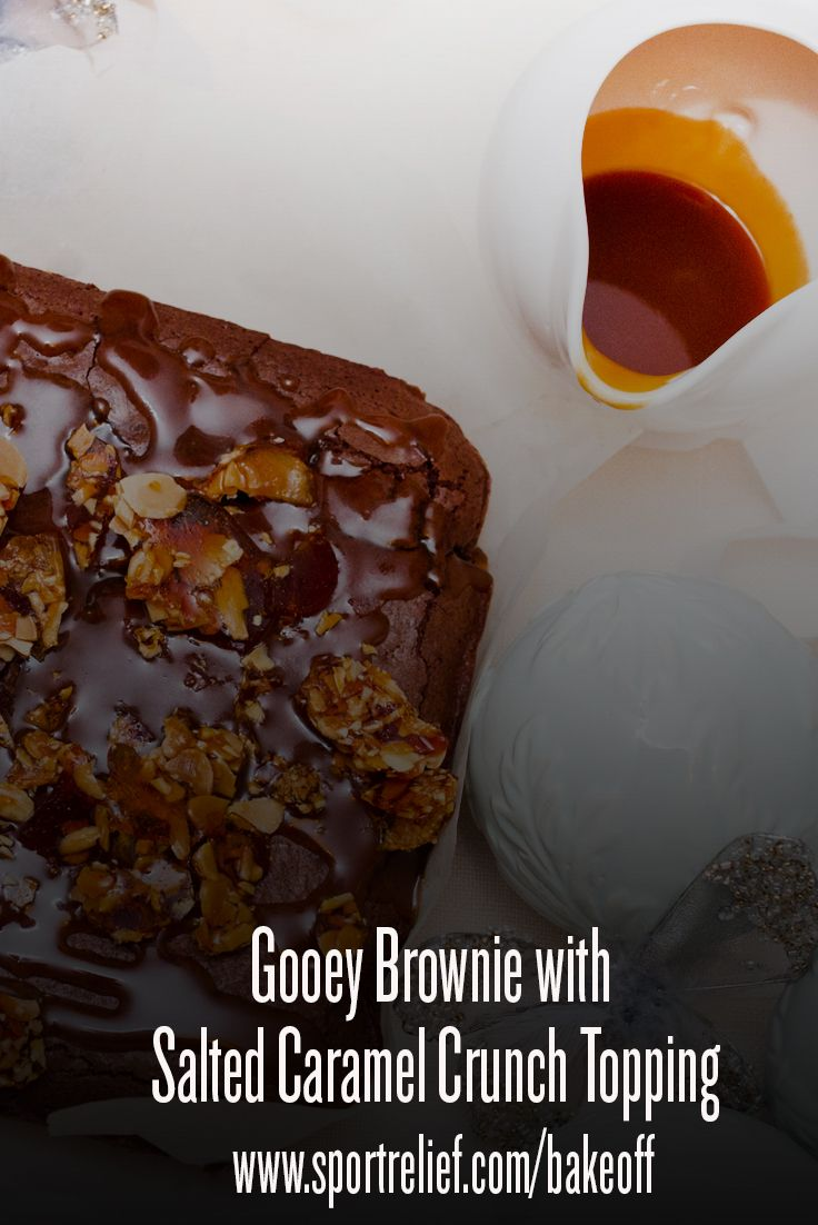 Having a fundraising bake sale? This indulgent Salted Caramel and Almond Crunch Brownie Recipe is a winner!