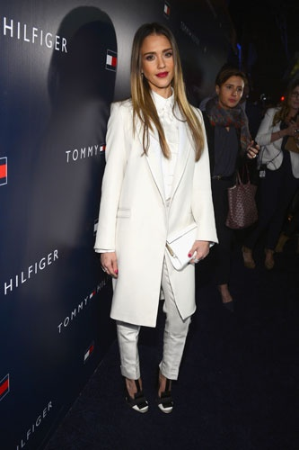 Jessica Alba in Tommy Hilfiger F/W '13 Collection.