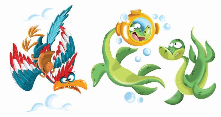 Viñetas de dinosaurios para The Novelty Book Company Inc.