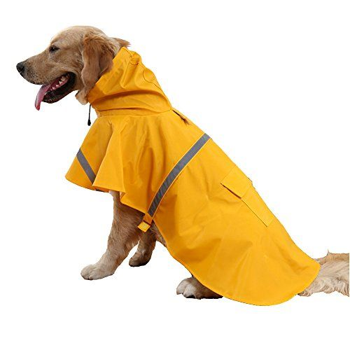 Hiado Dog Raincoat with Reflective Belt (Size Xxl, Xxlarge, Extra Large, Yellow) XXL:Back 30.7-33.4 inch ; Chest 37.7-41.3 inch ; Neck 24.8-27.1 inch Read  more http://dogpoundspot.com/hiado-dog-raincoat-with-reflective-belt-size-xxl-xxlarge-extra-large-yellow/  Visit http://dogpoundspot.com for more dog review products