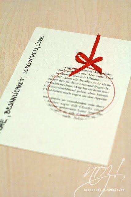 Karte Weihnachtsbaumkugel(Diy Paper Letters)
