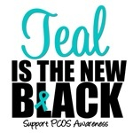 I support PCOS awareness. I also support Teal because it is the color that represents ovarian cancer. My mother has stage 3 and has bravely fought the disease for over three years. I would love to see more support and research focus on both diseases. Ovarian Cancer is a silent killer. Let's make some noise!!!