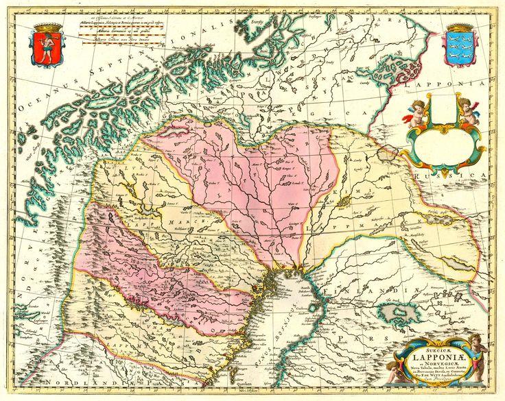Antique map of Lapland by F. de Wit - Covens & Mortier. | Sanderus Antique Maps
