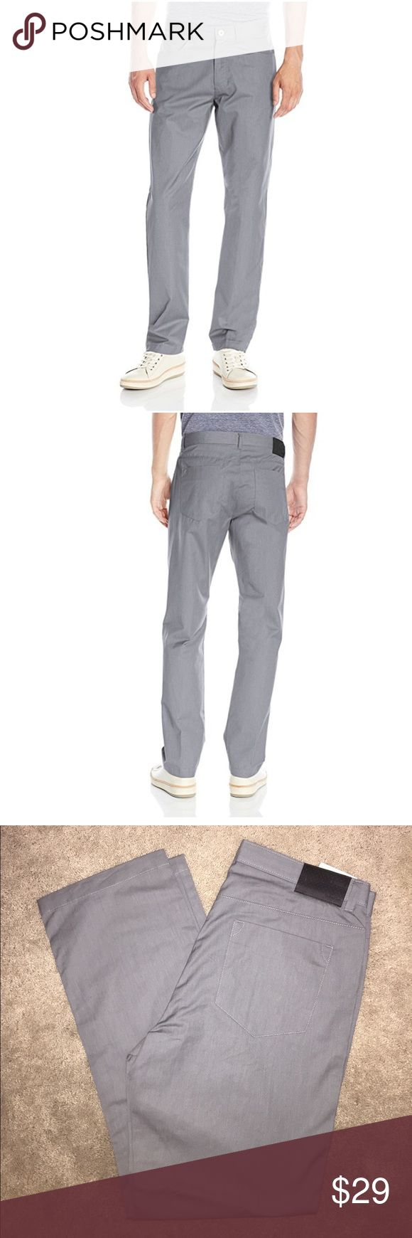 Calvin Klein Men's Twill Pants NWOT. Castle rock Grey. These modern four pocket twill pants feature a casual fit with a belt loop waistband and a button and zip fly enclosure. 100% Cotton (34Wx32L) Calvin Klein Pants
