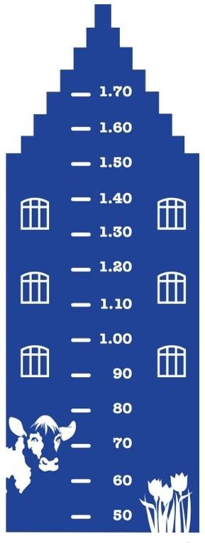 Hollandse groeimeter - www.muurstickerboetiek.nl