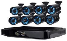 Night Owl - 8-Channel, 8-Camera Indoor/Outdoor DVR Security System - Black, B-A720-81-8