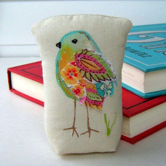 bird  sculpture fabric bird mixed media bird bird by tracyBdesigns