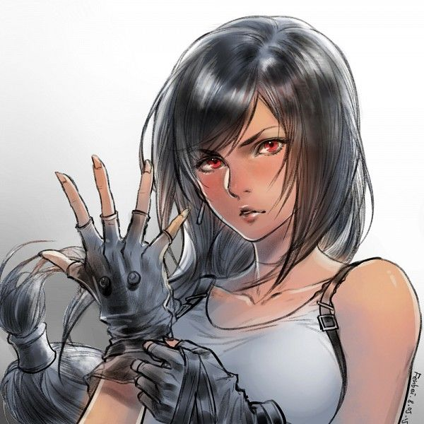 Tags: Anime, relear, Final Fantasy VII, Tifa Lockhart, Realistic