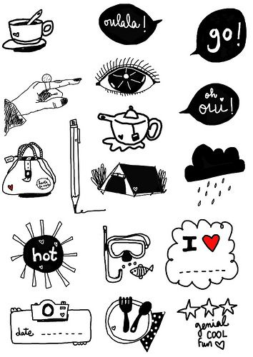 Summer 2012 | printable A4 sheet to use in your projects: tr… | Flickr