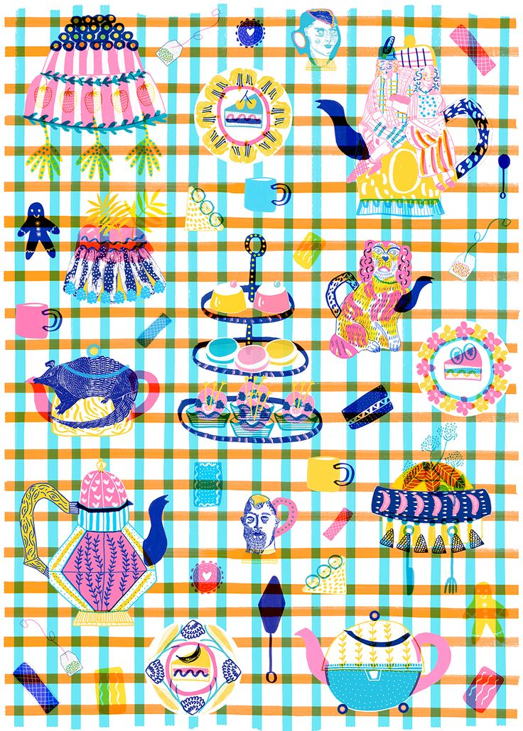 Wrapping paper design for Wrap Magazine - Camilla Perkins