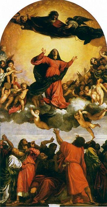 Вознесение Девы Марии (Ассунта) [Assumption]. Тициан (Тициано Вечеллио)