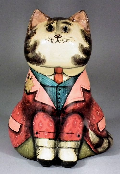 Joan and David De Bethel - Papier-mache cat  (Made for the Grand Spring Fete at The Legat School, Finchcocks, Goudhurst, Kent, 16th May 1970)