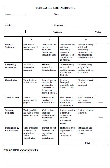esl persuasive essay rubric Students love the rubric that goes along with this assignment because it tells them exactly what they need to do to improve their essay before they write the next draft, and the format makes it very easy for them to understand teachers love the essay format because it takes the students through the process of writing a first.