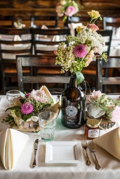 Craft Beer Growler re-purposed as a floral vase for your home and special events…