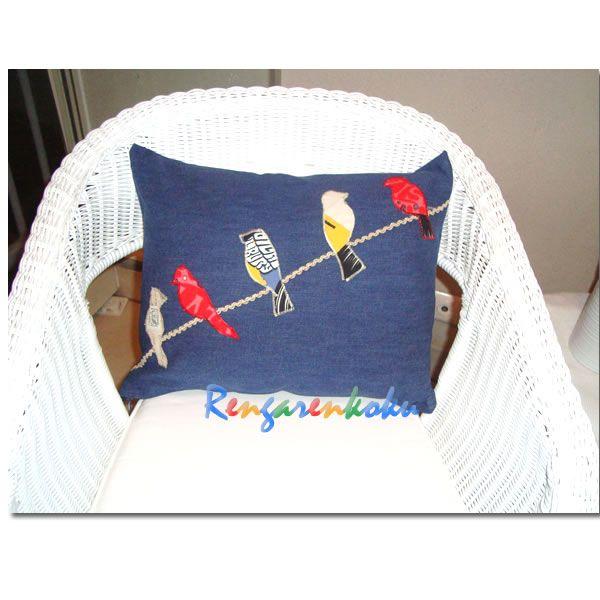 Rengarenkoku: Kuş serisi yeni kot yastıklarımız