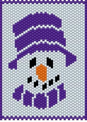 Another purple snowman