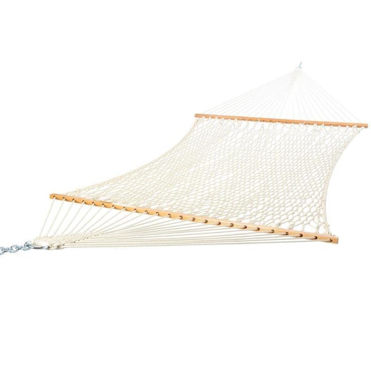Castaway 13 ft. Extra Large Rope Hammock, White