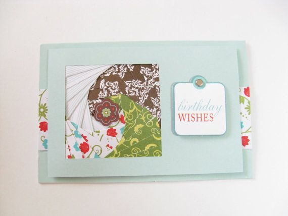 Birthday Wishes Greeting Card by KPaperShop on Etsy, $5.00