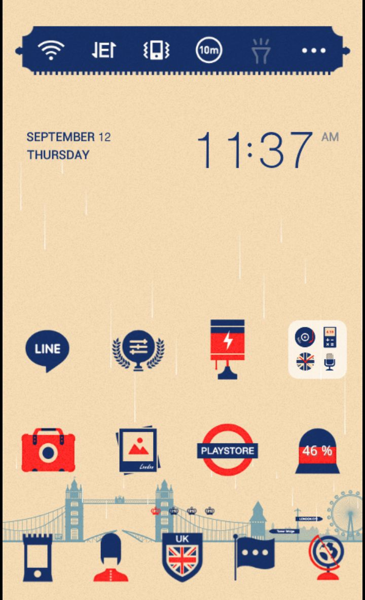 Sentimental UK theme by dodol launcher