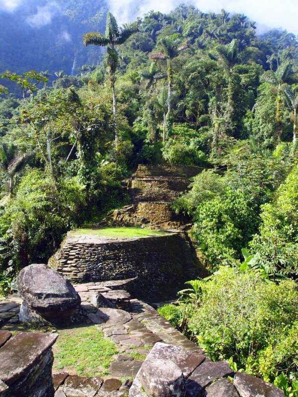 Cuidad Perdida, or the lost city, deep in the heart of the Sierra Nevada de Santa Marta in the Coastal Mountains of Colombia. - Credit: Jesse Lewis