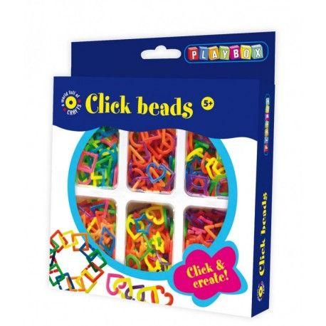 Gioco creativo giocattolo set kit bijoux con perline a incastro click
