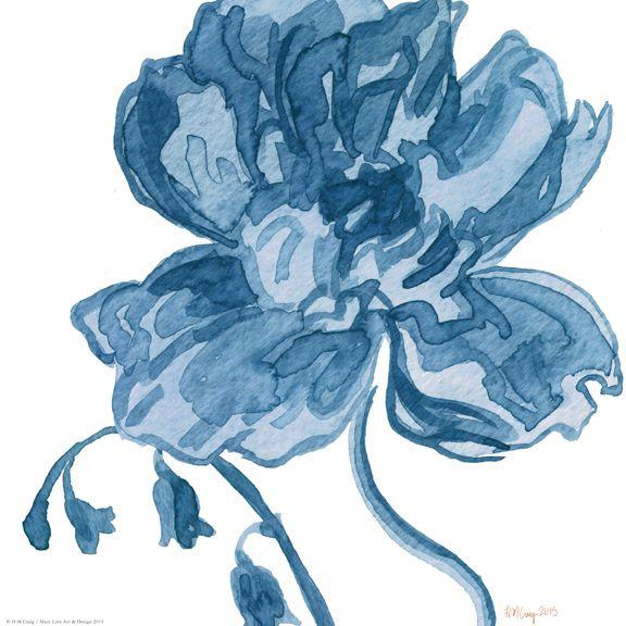 Navy Floral VI