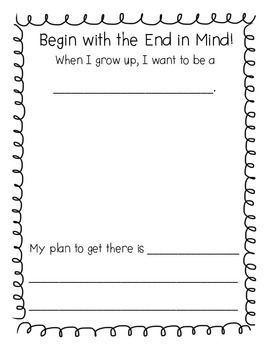 Leader In Me Habit 2 for Leadership Notebooks
