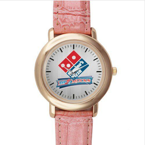 Domino's Pizza Pink Leather Watch