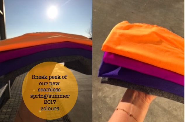 Sneak peek of our new beautiful and vibrant spring/summer colors. These photos are from our soft seamless spring/summer 2017 collection.