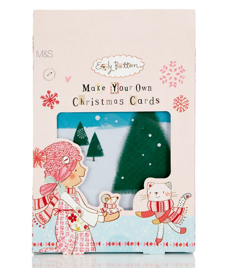 Make your own Emily Button Christmas cards with seasons greetings and wishes for a happy winter.