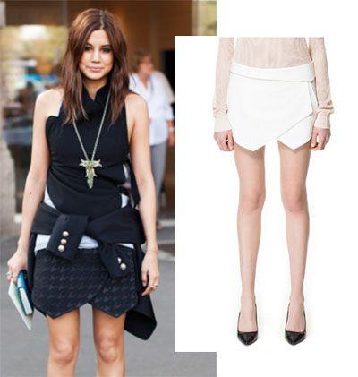 falda de BalenciagaChristine Centenera, la editora de moda del Harper's Bazaar australiano