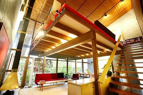 Interior view of Robin Boyd's South Yarra home.