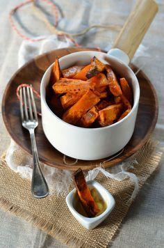 Frites de patate douce au four - Recette vegan et sans gluten