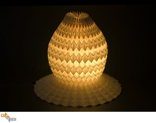 A Fabergé egg-inspired lamp created by Ilan Garibi: Inspired Lamps, Fabergé Inspired, Eggs Inspiration Lamps, Fabergé Inspiration, Paper Lamps, Ilan Garibi, Origami Lamps, Egginspir Lamps, Paper Crafts